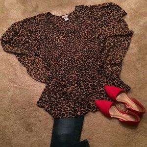 Catherine's cheetah blouse size 2X.